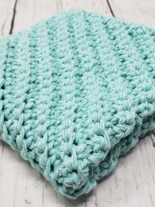 diagonal stitch dishcloth