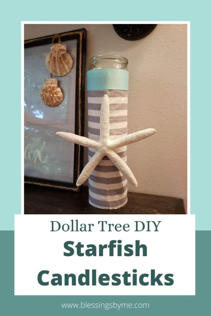 Starfish Candlesticks DIY
