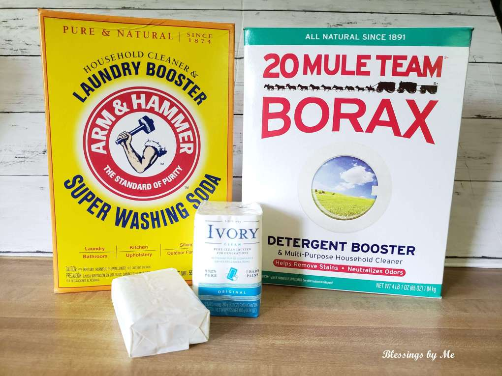 materials needed for homemade powdered laundry detergent