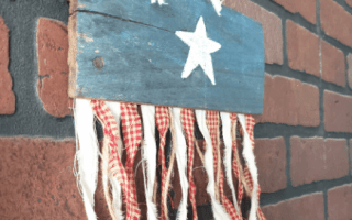 reclaimed wood American flag