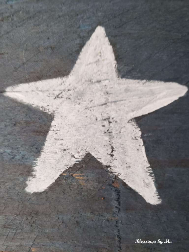 painted white star