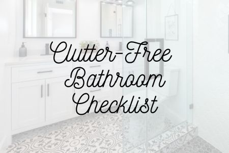 Clutter-Free Bathroom