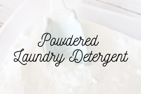 Powdered Laundry Detergent