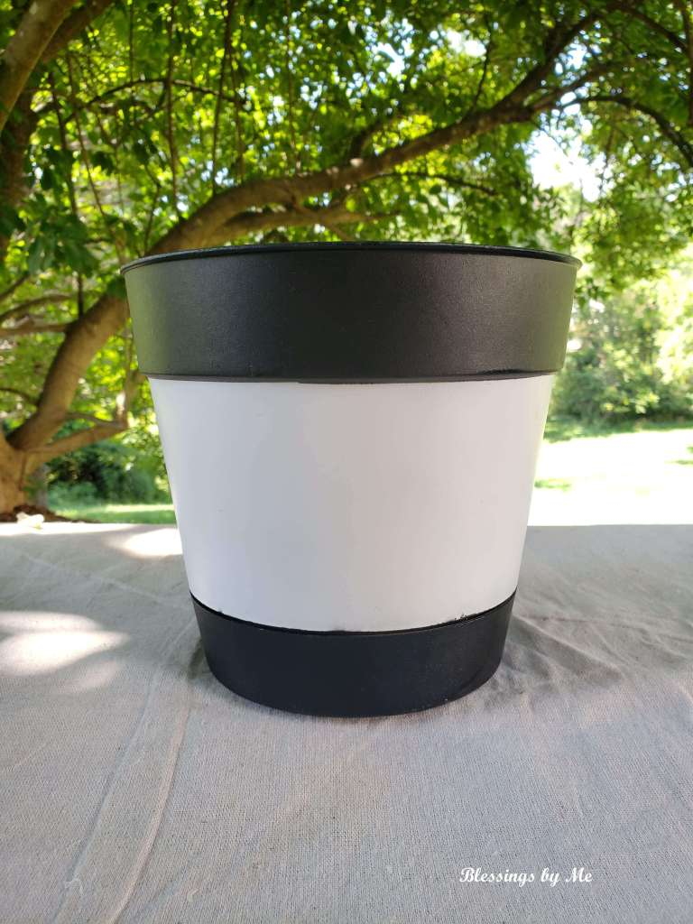 painted repurposed flower pot