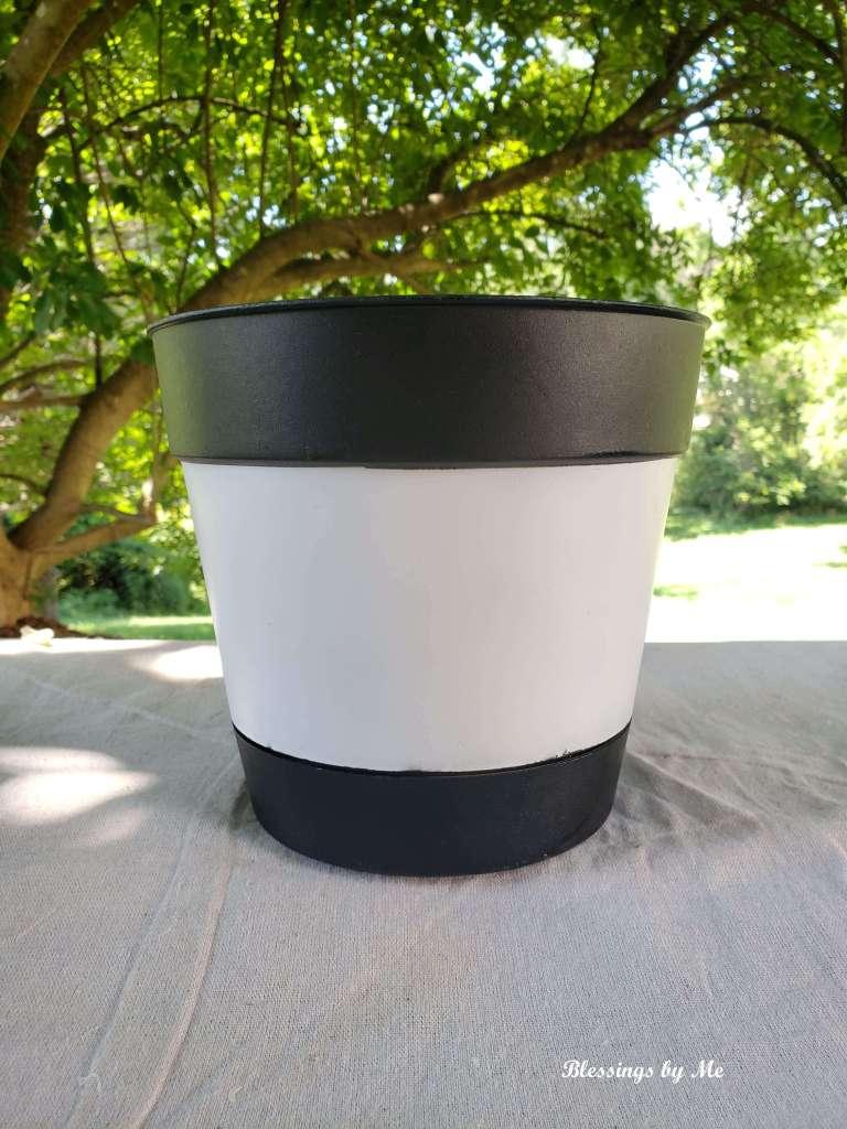 painted repurposed flower pot
