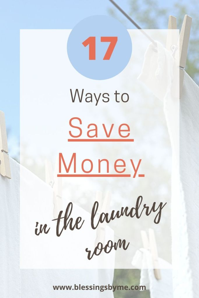 ways to save money in the laundry room