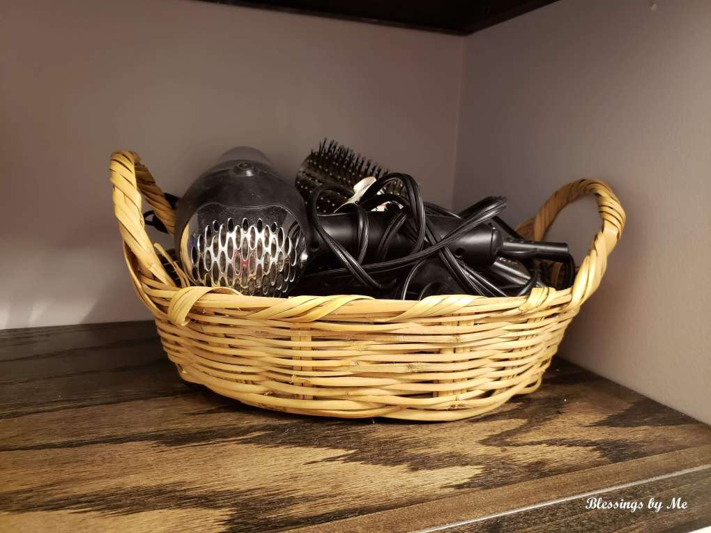 basket for hair supplies