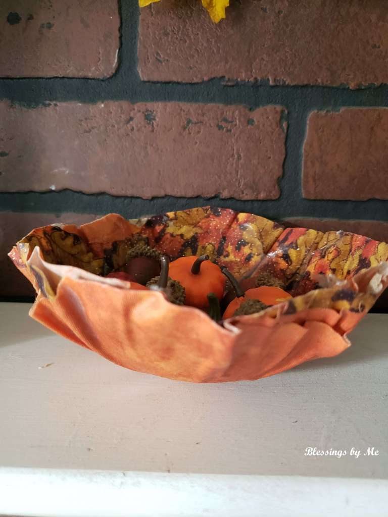 fabric bowl from the side