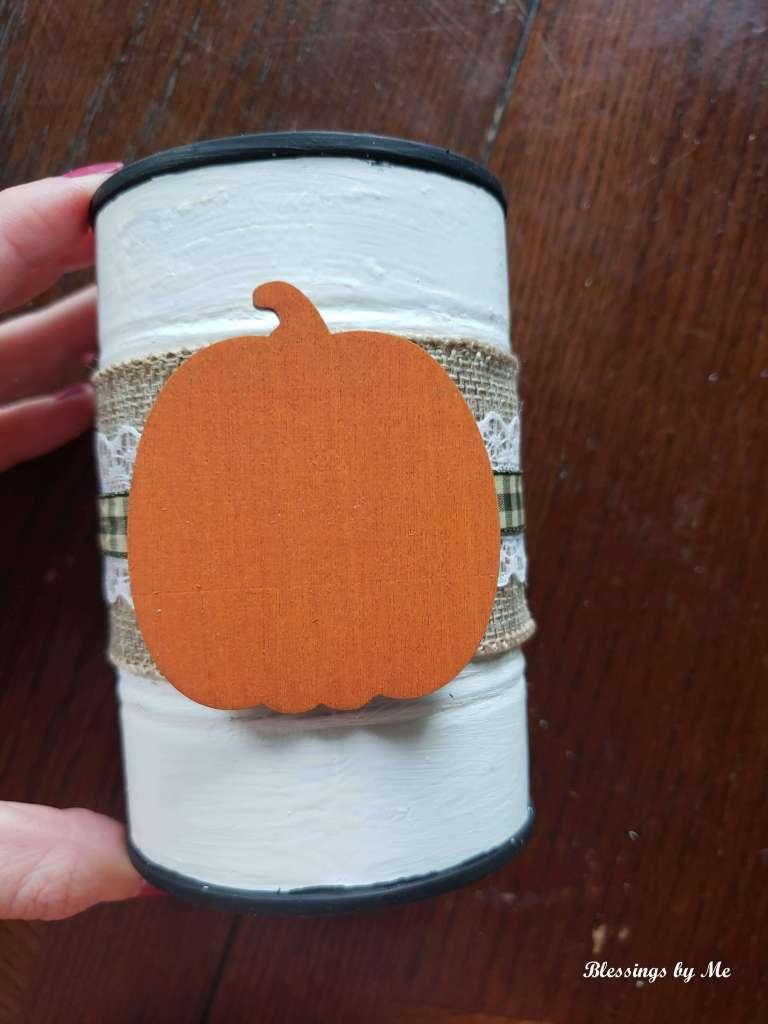 Step 5 - add a wooden pumpkin