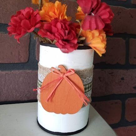 Tin Can Vase for Fall