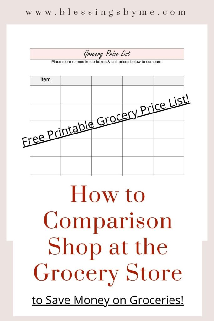 How to Comparison Shop at the Grocery Store