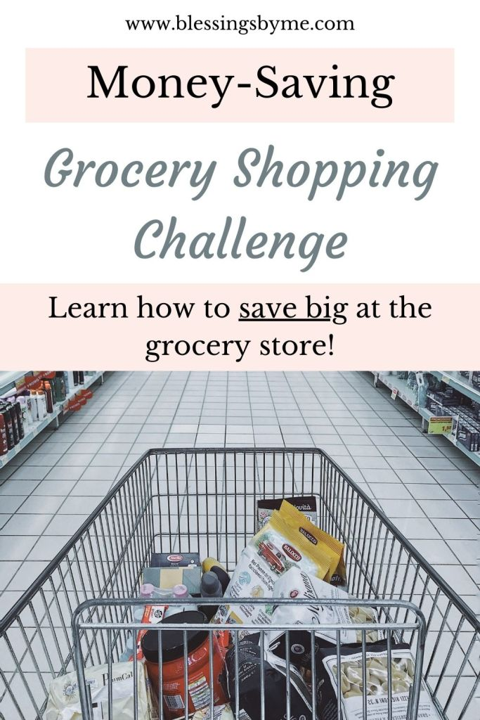 money-saving grocery shopping challenge