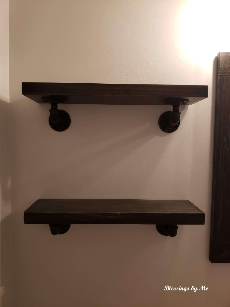 over the toilet shelves