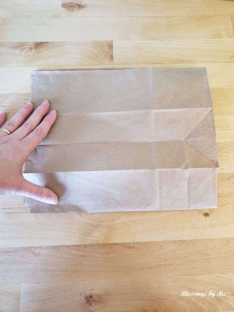 Step 2 - fold the bag in half
