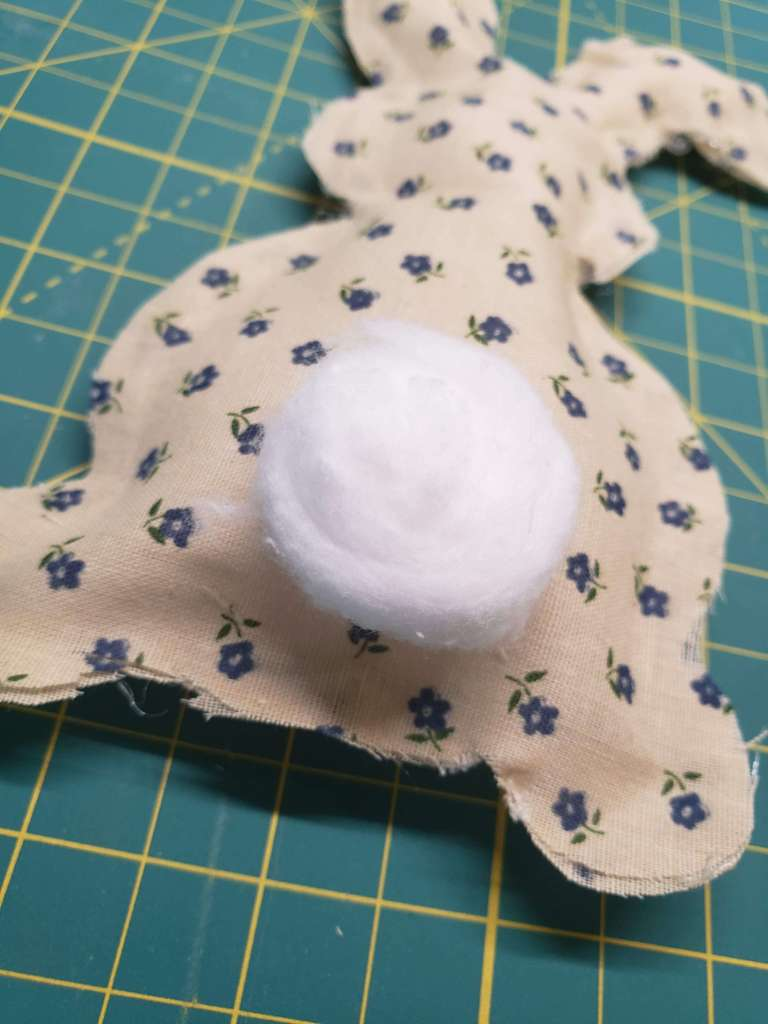 step 5 - add the cotton ball