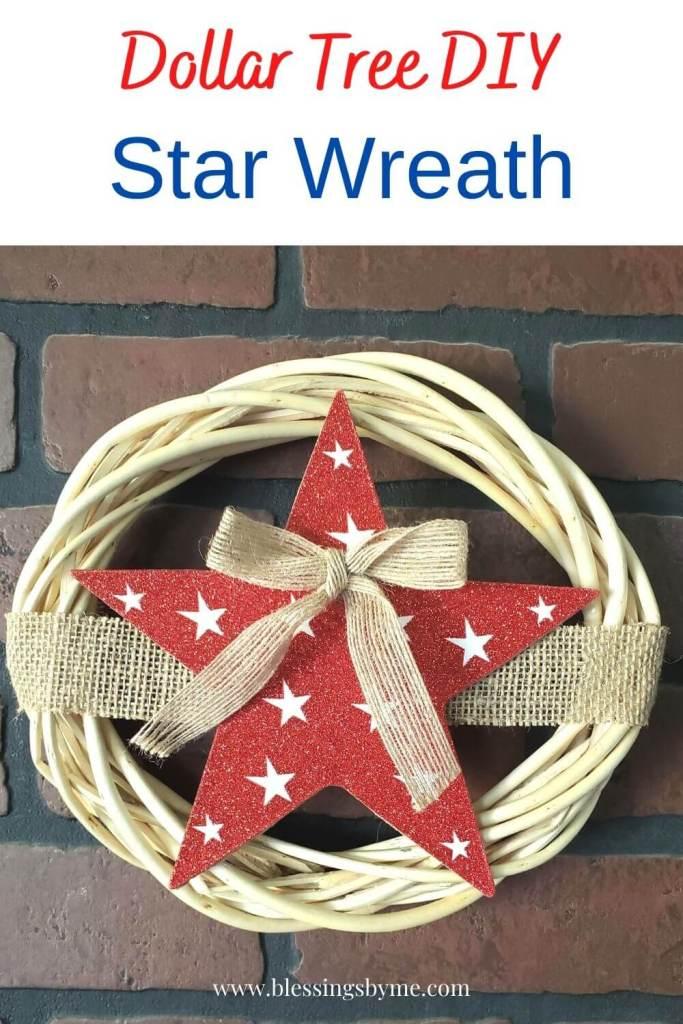 Dollar Tree DIY Star Wreath