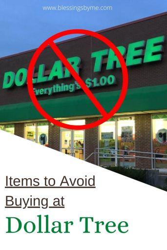 Items you shouldn't buy at Dollar Tree