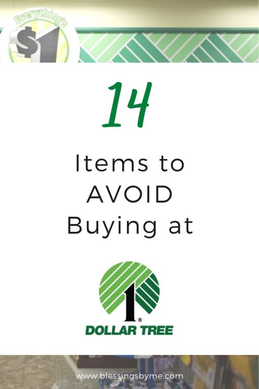items you should never buy at Dollar Tree