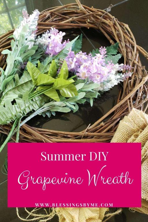 summer grapevine wreath
