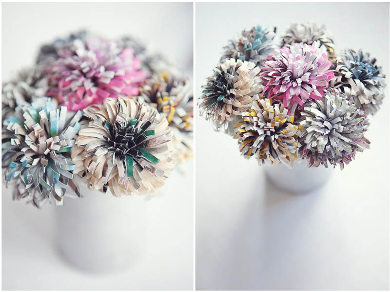 wedding flowers from old magazines
