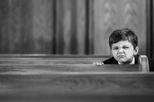child in mass