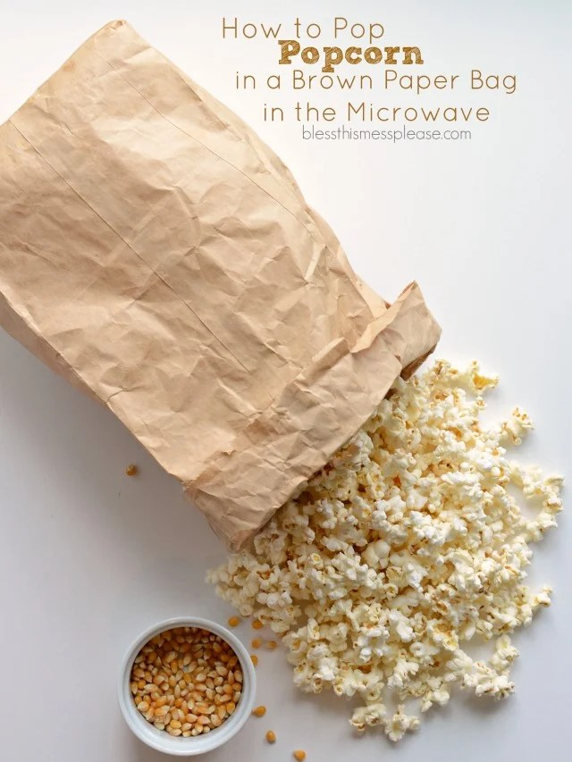 how to pop popcorn in a paper bag in