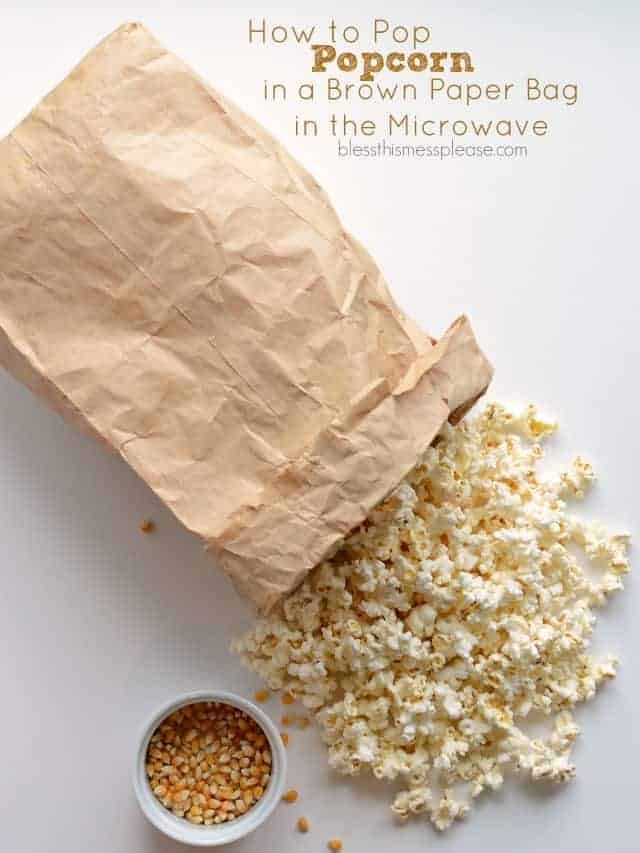 how to pop popcorn in a brown paper bag in the microwave