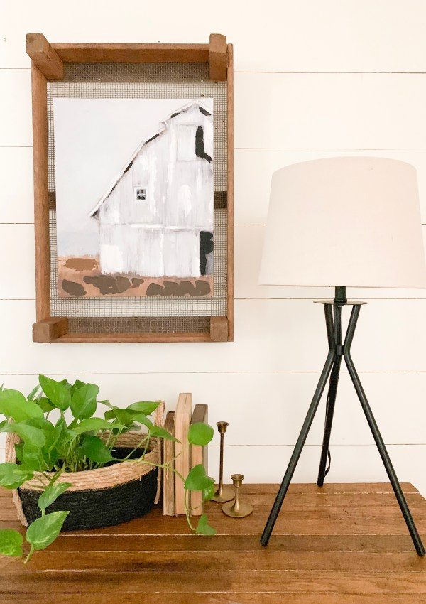Modern Farmhouse Console Table and Decor