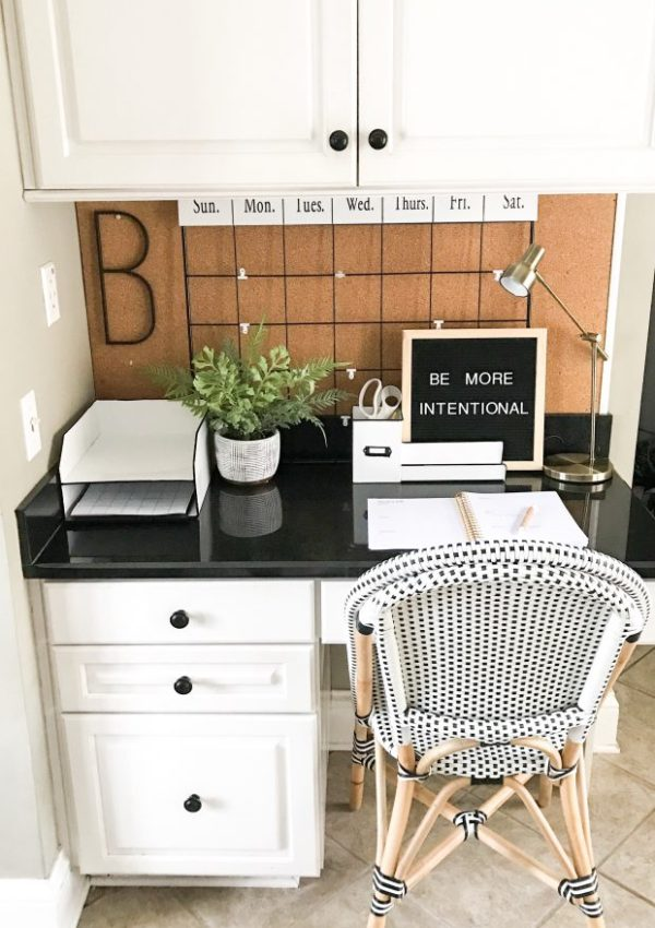 Getting Organized With Kirkland's- Kitchen Desk Area Organization Ideas