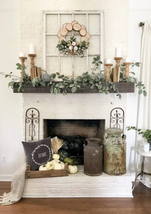 My Fall Mantel Decor With JOANN