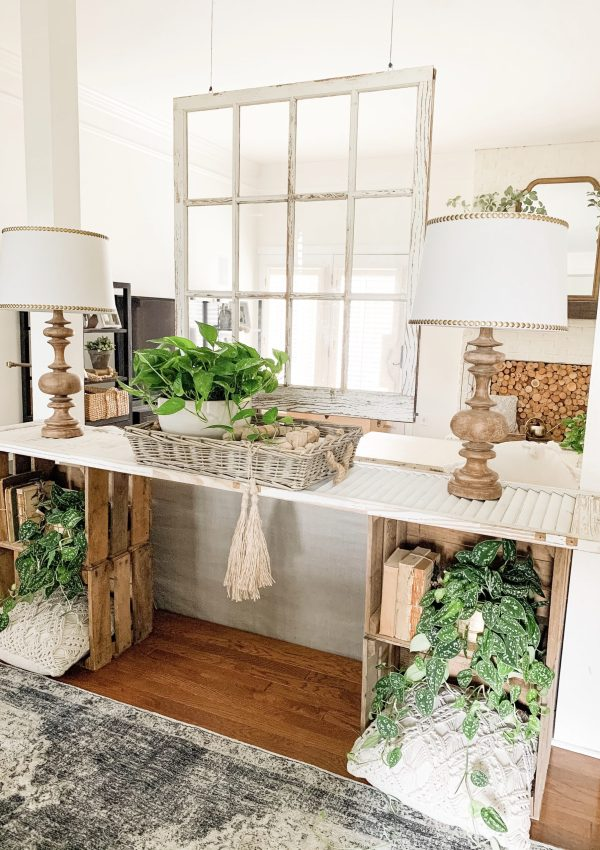 Simple Console Table Styling + New Vintage Inspired Runner