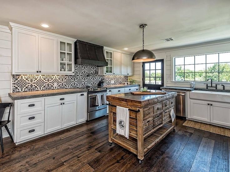 kitchen inspiration of Fixer Upper barndominium kitchen.