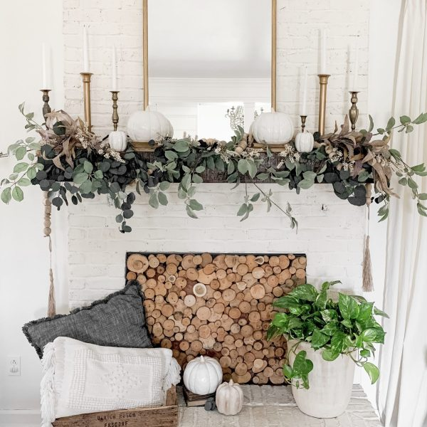Anthropologie Mirror Dupe + Fall Mantel Reveal