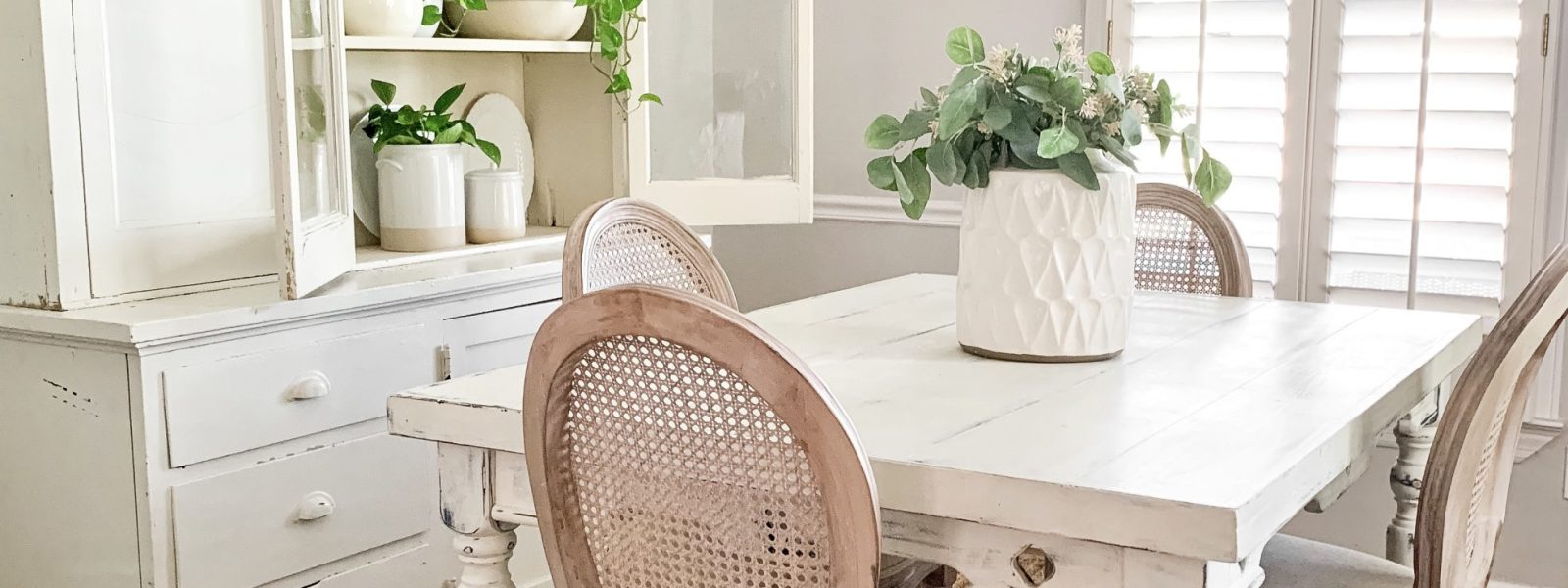Simple Summer Dining Room Refresh With Old Time Pottery