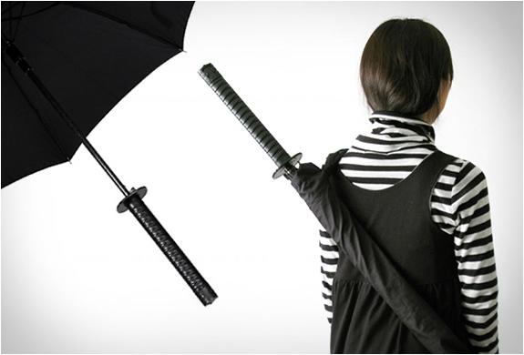 Kikkerland Samurai Sword Umbrella