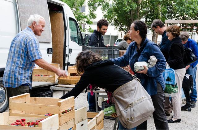 Distribution aux Paniers Marseillais