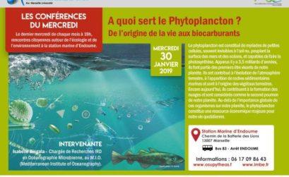 conférence sur le phytoplancton avec la station marine d'Endoume