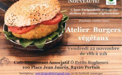 burger végétal avec Farigoulette