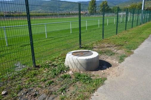 forage pour un terrain de foot dans le Haut-Rhin 68