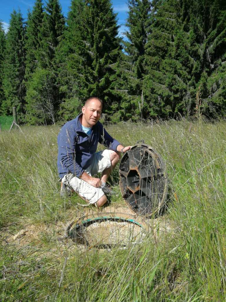 forage réalisé dans les hautes montagnes dans le Grand-Est suite à l'intervention de l'expert sourcier Philippe Wojtowicz