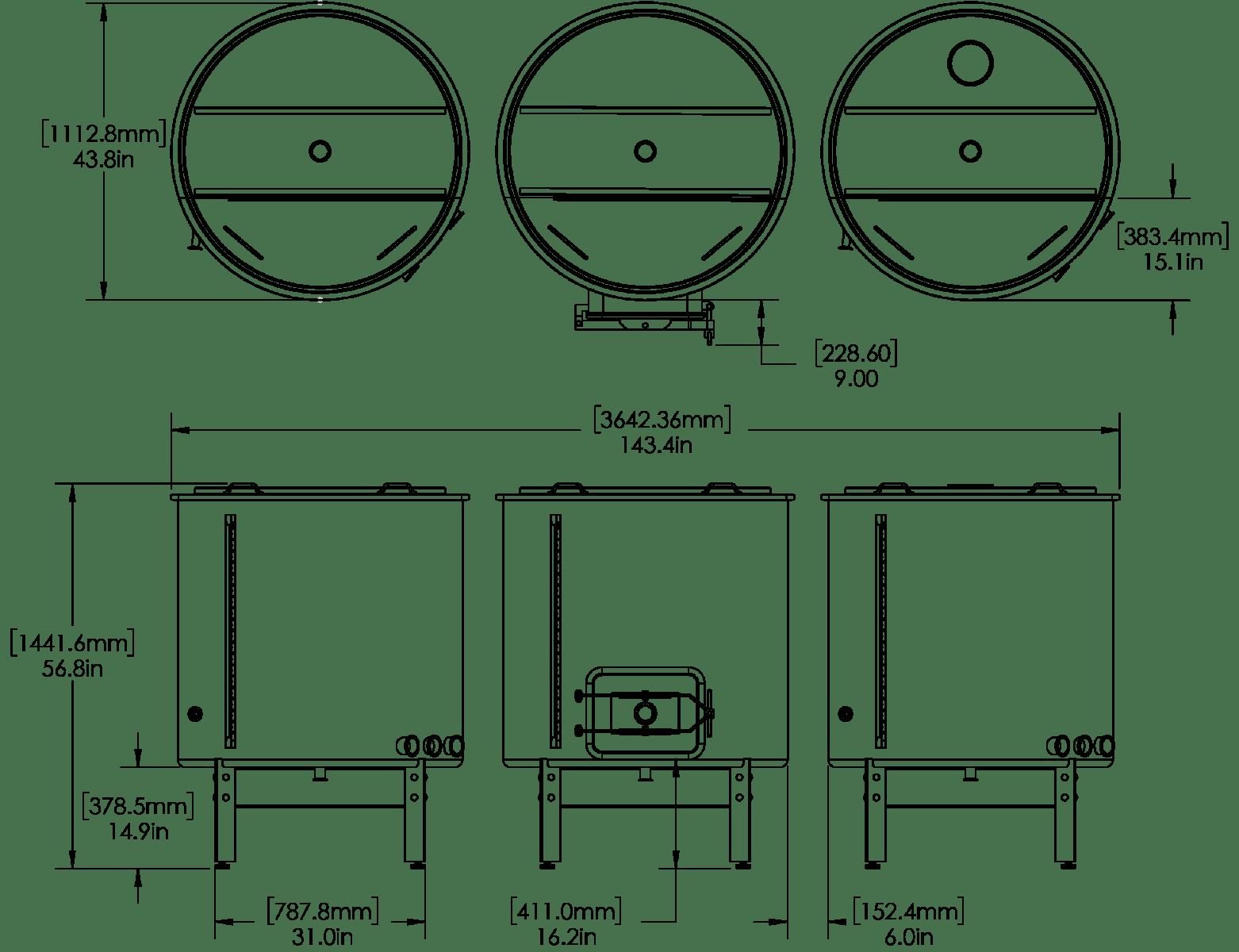 5 Bbl Hybrid Brewhouse
