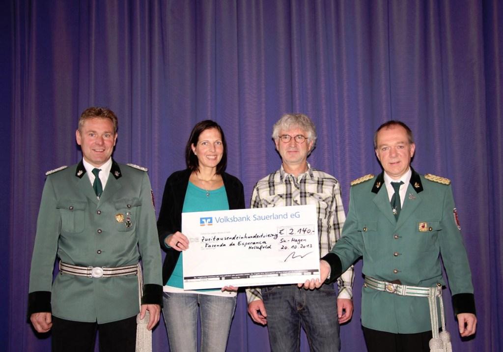 Hagener Schützen spenden über 2000 Euro für Fazenda