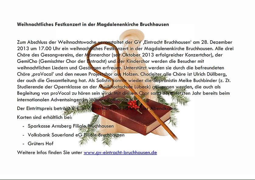Fünf Chöre singen in Magdalenenkirche in Bruchhausen