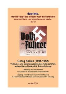 Die Titelseite der Dokumentation der Heimatforscher zu Georg Nellius.