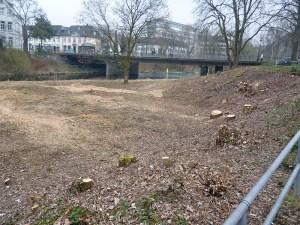 Auch an der Klosterbrücke sind die Bauarbeiten bereits vorbereitet worden. (Foto: oe)