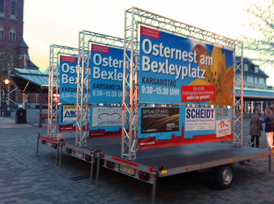 Blühendes Osternest am Bexleyplatz