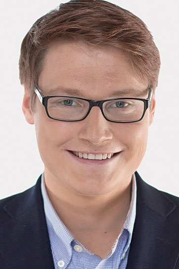 Moritz Körner kommt zum Rollmopsessen der FDP