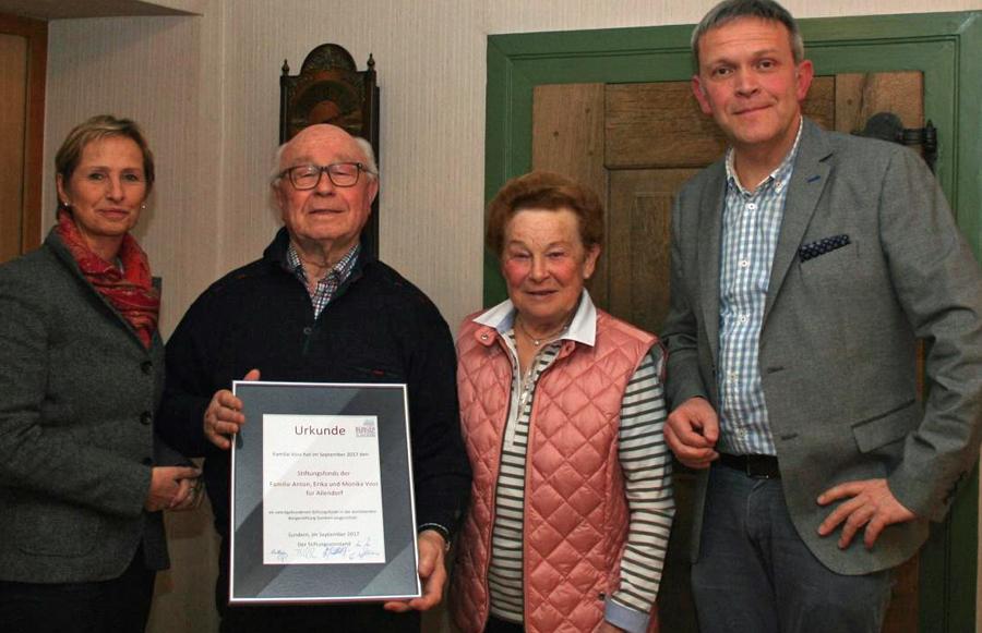 Familie Voss aus Allendorf errichtet Stiftungsfonds