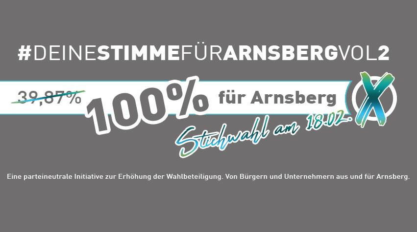 Arnsberger gründen Initiative zur Wählermobilisierung für Bürgermeister-Stichwahl