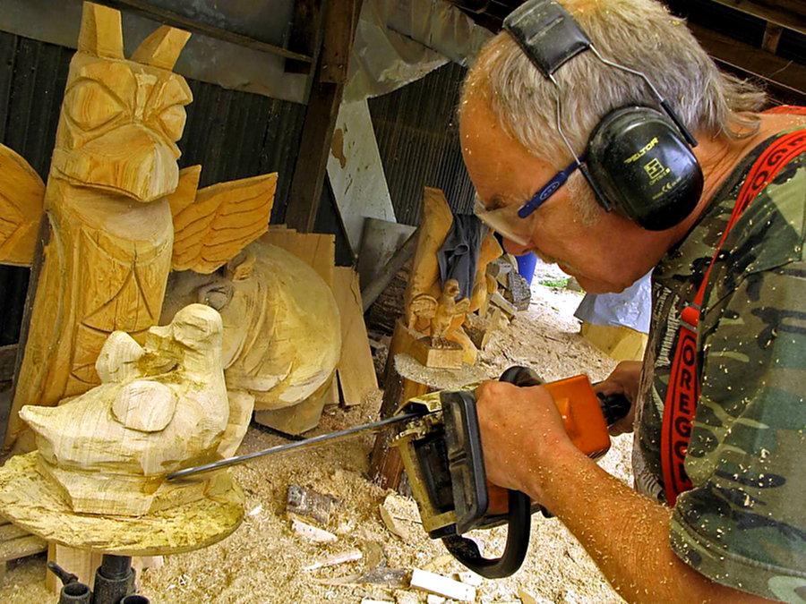 Holzmarkt 2019:  Kettensägen-Kunst soll Besucher anlocken